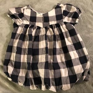 Like new Girls checkered A line dress